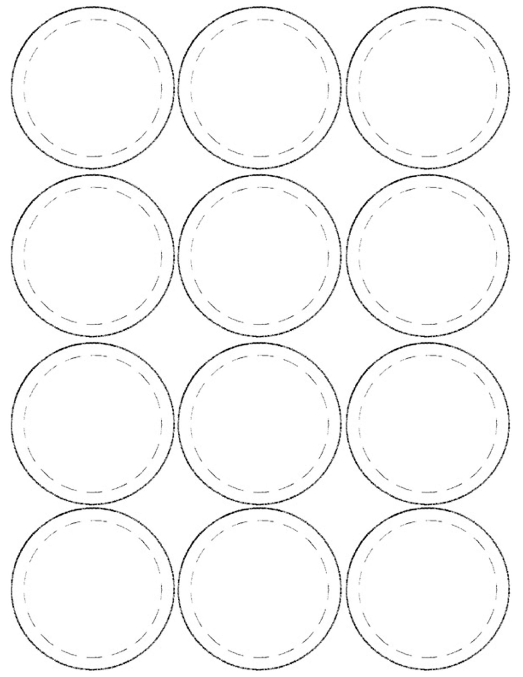 1 Inch Circle Template