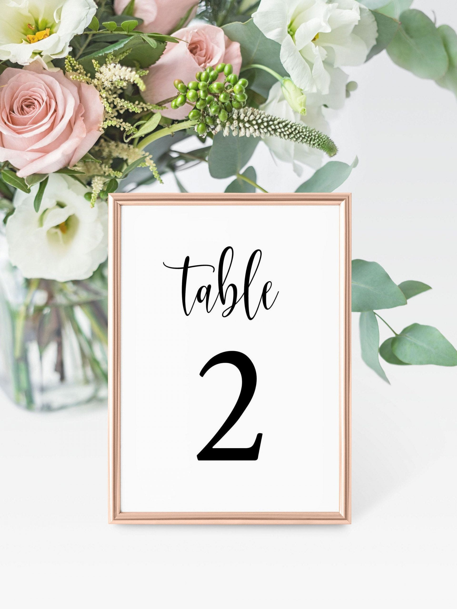 4x6 Table Numbers Template