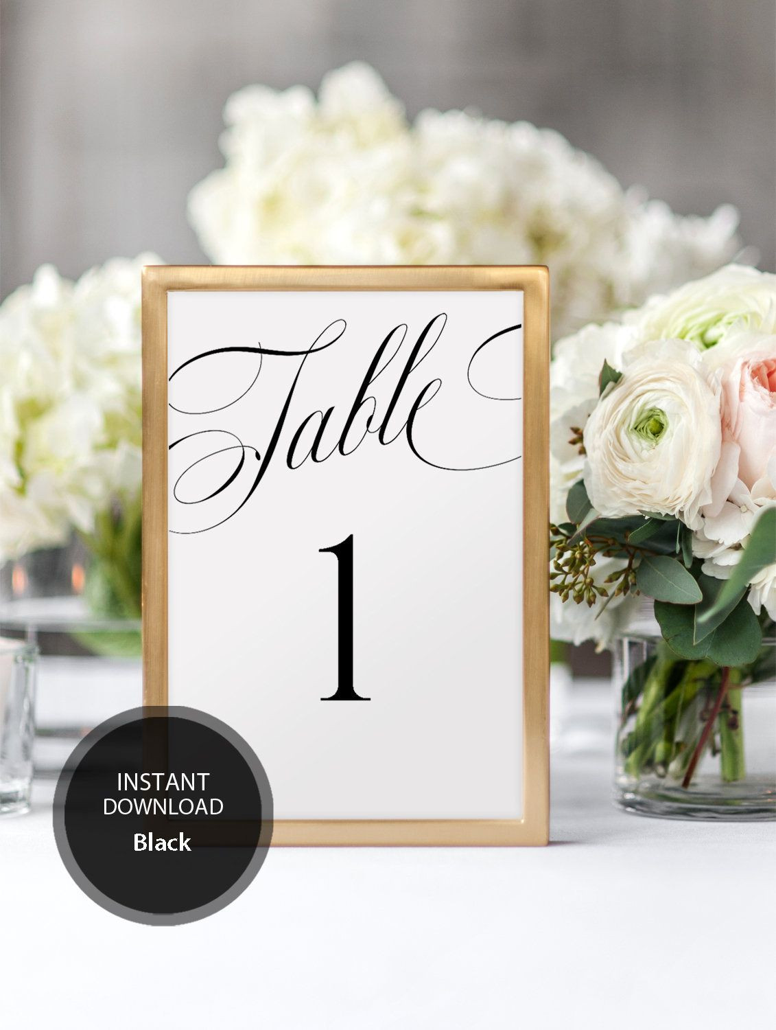 Editable PDF Table Sign 4x6 Table Numbers sign INSTANT