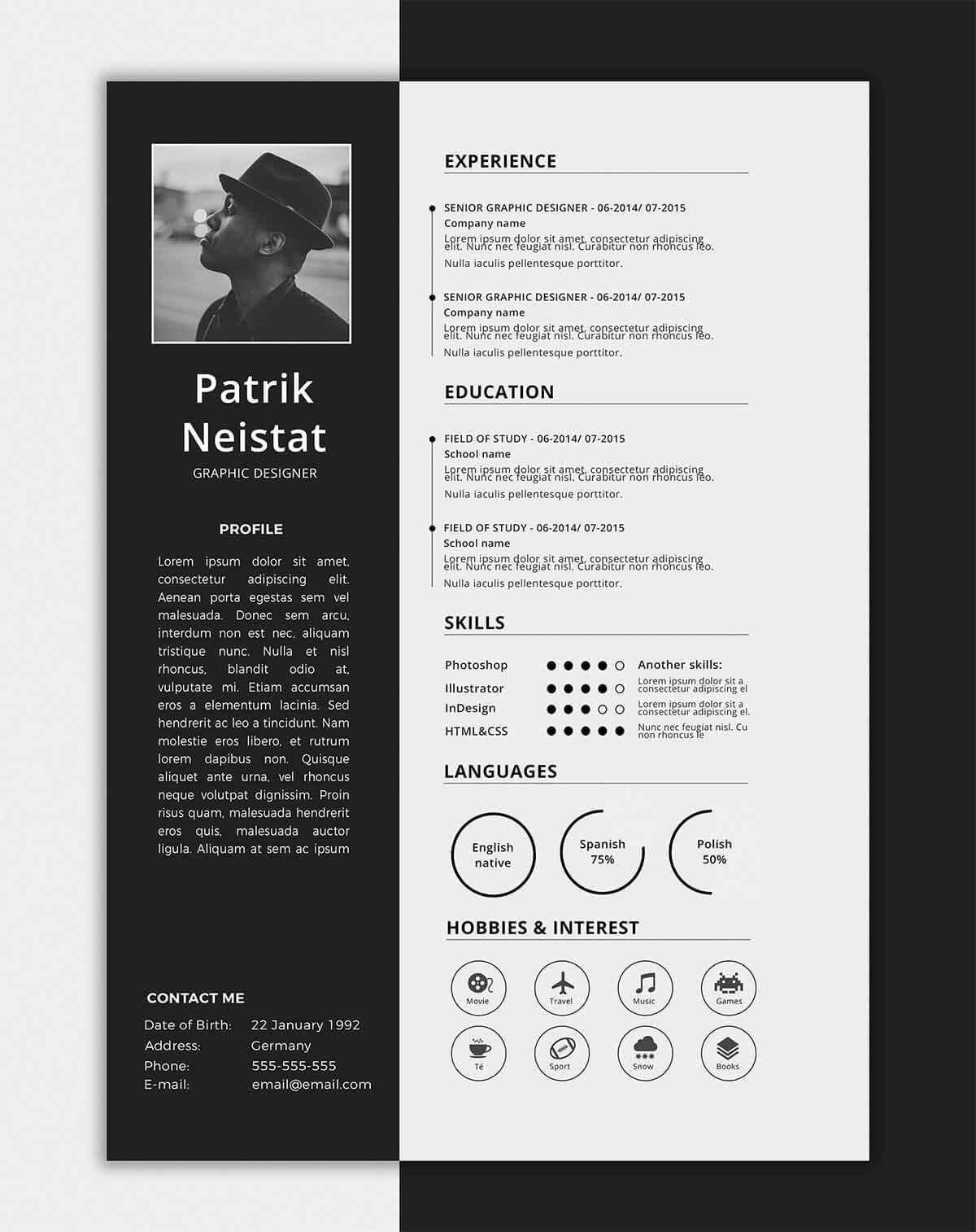 About Me Page Template