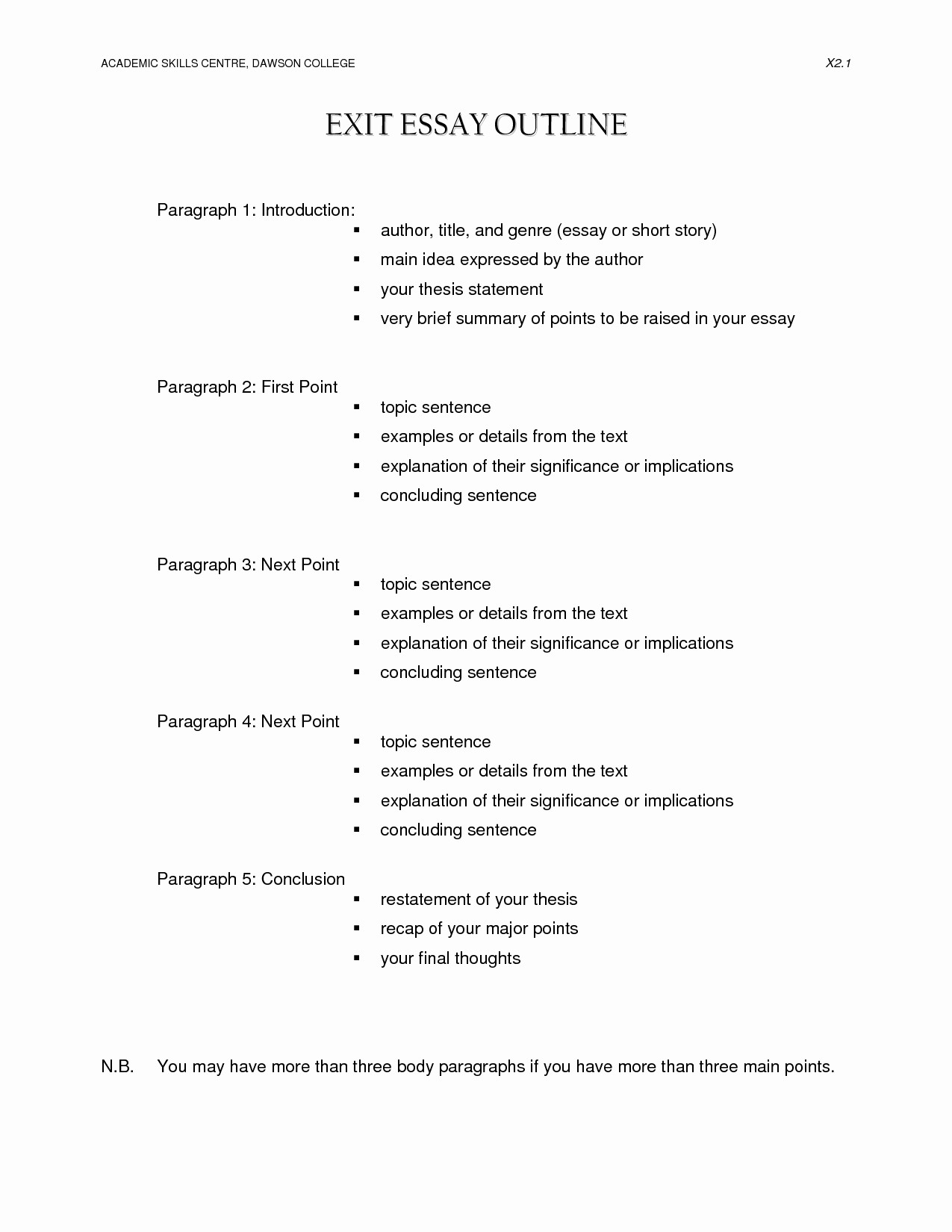 Apa Outline format Template