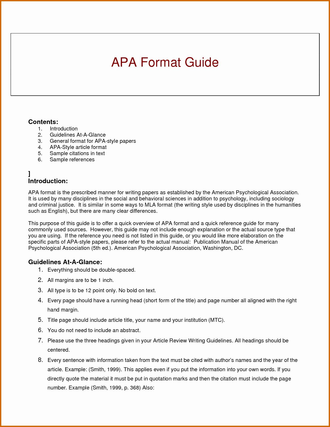 Apa Research Paper Template