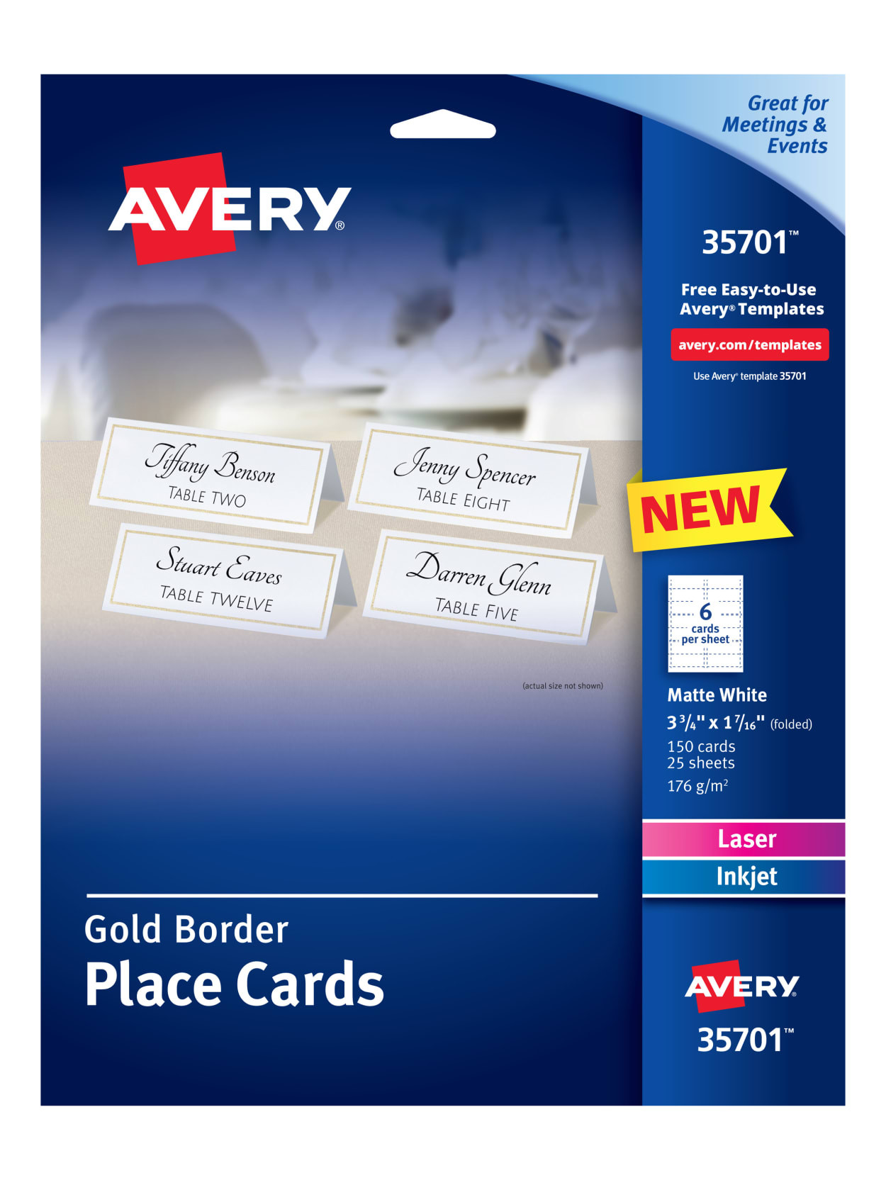 Avery Place Card Template