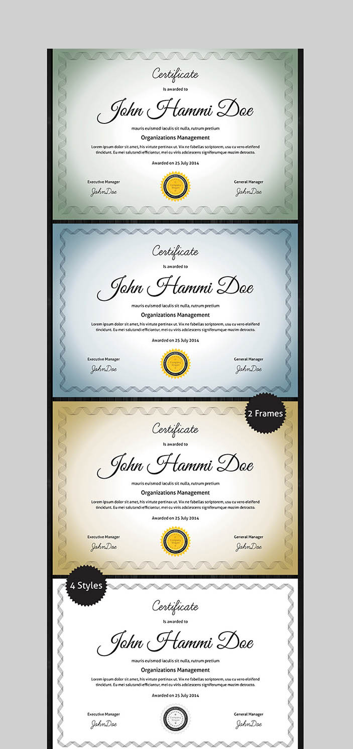 Award Certificate Template Free