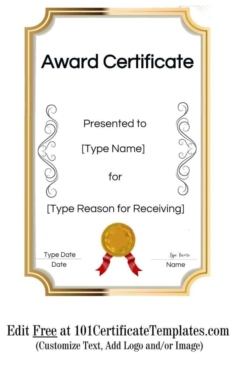 Free Printable Certificate Templates in 2020
