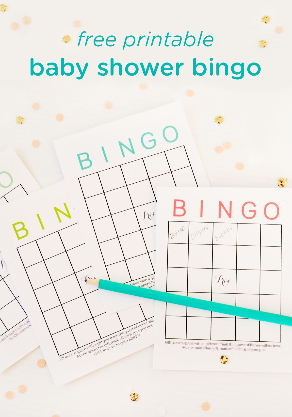 Baby Shower Bingo Template