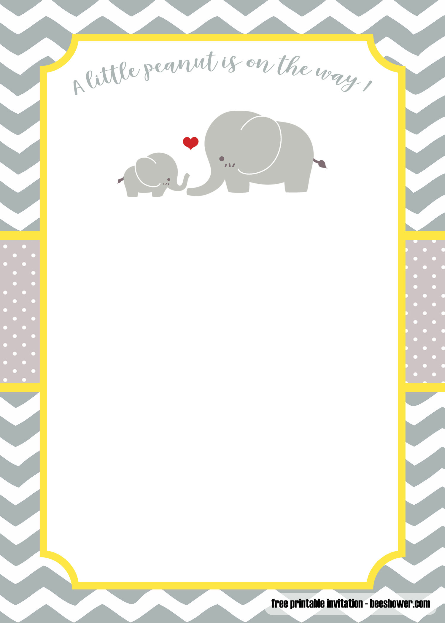 Baby Shower Elephant Template