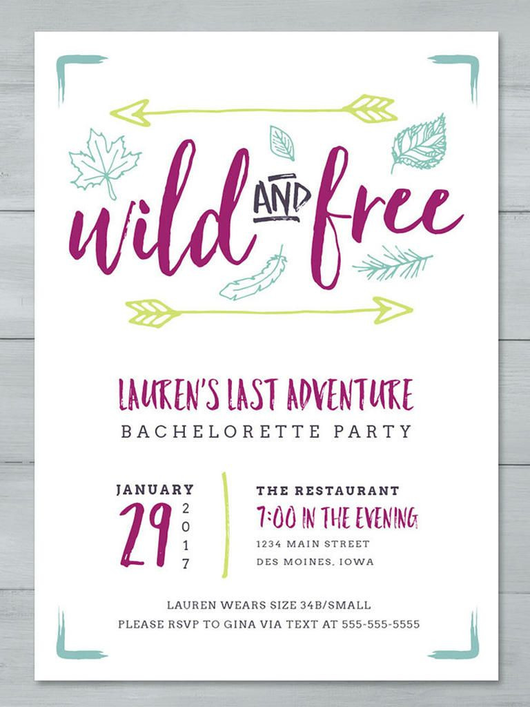 14 DIYable Bachelorette Party Invitation Templates