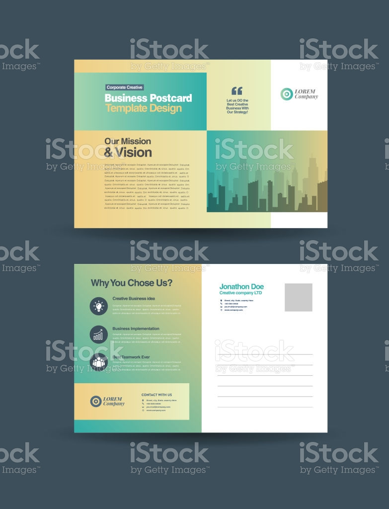 Back Of Postcard Template