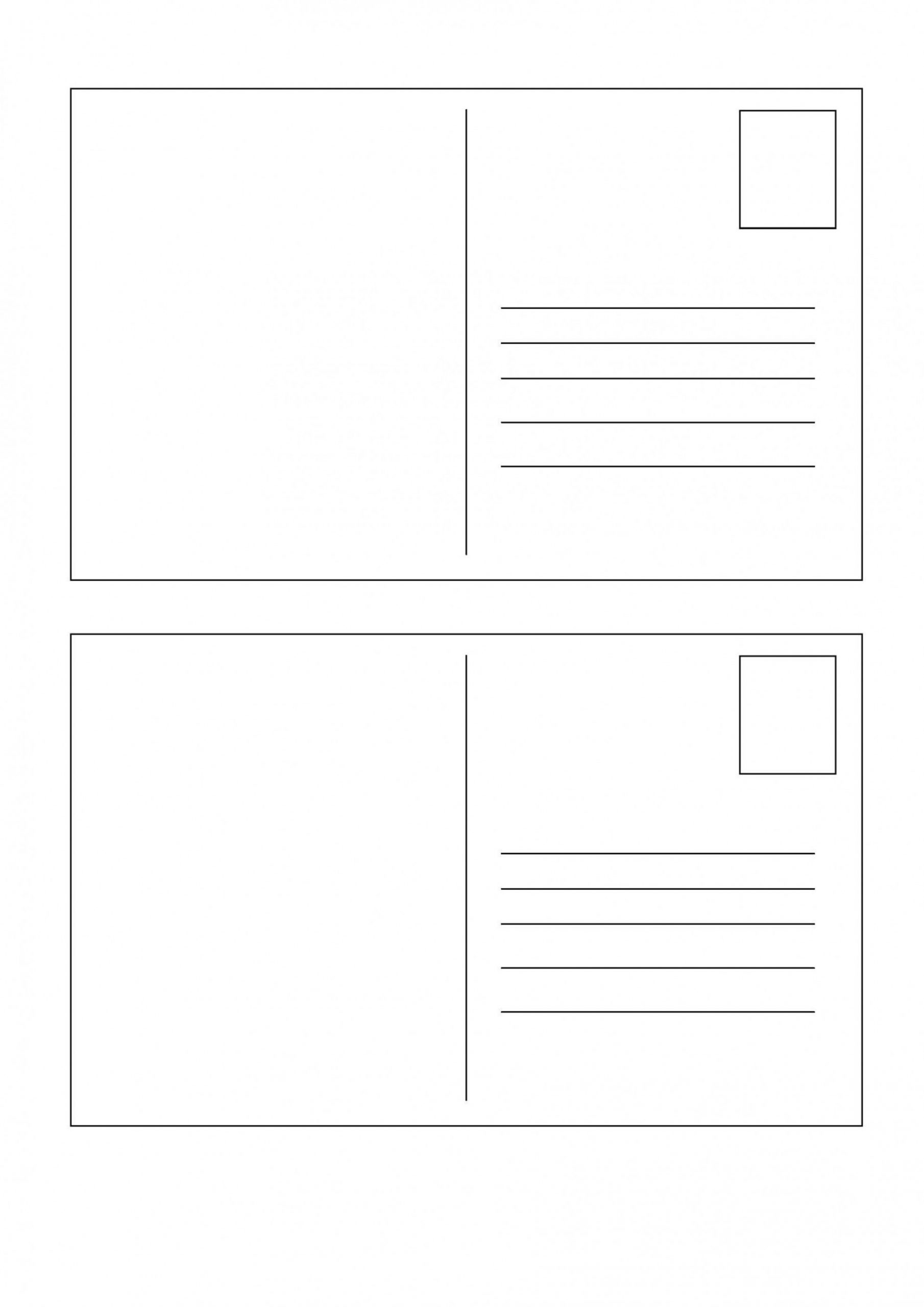 Back A Postcard Template Addictionary