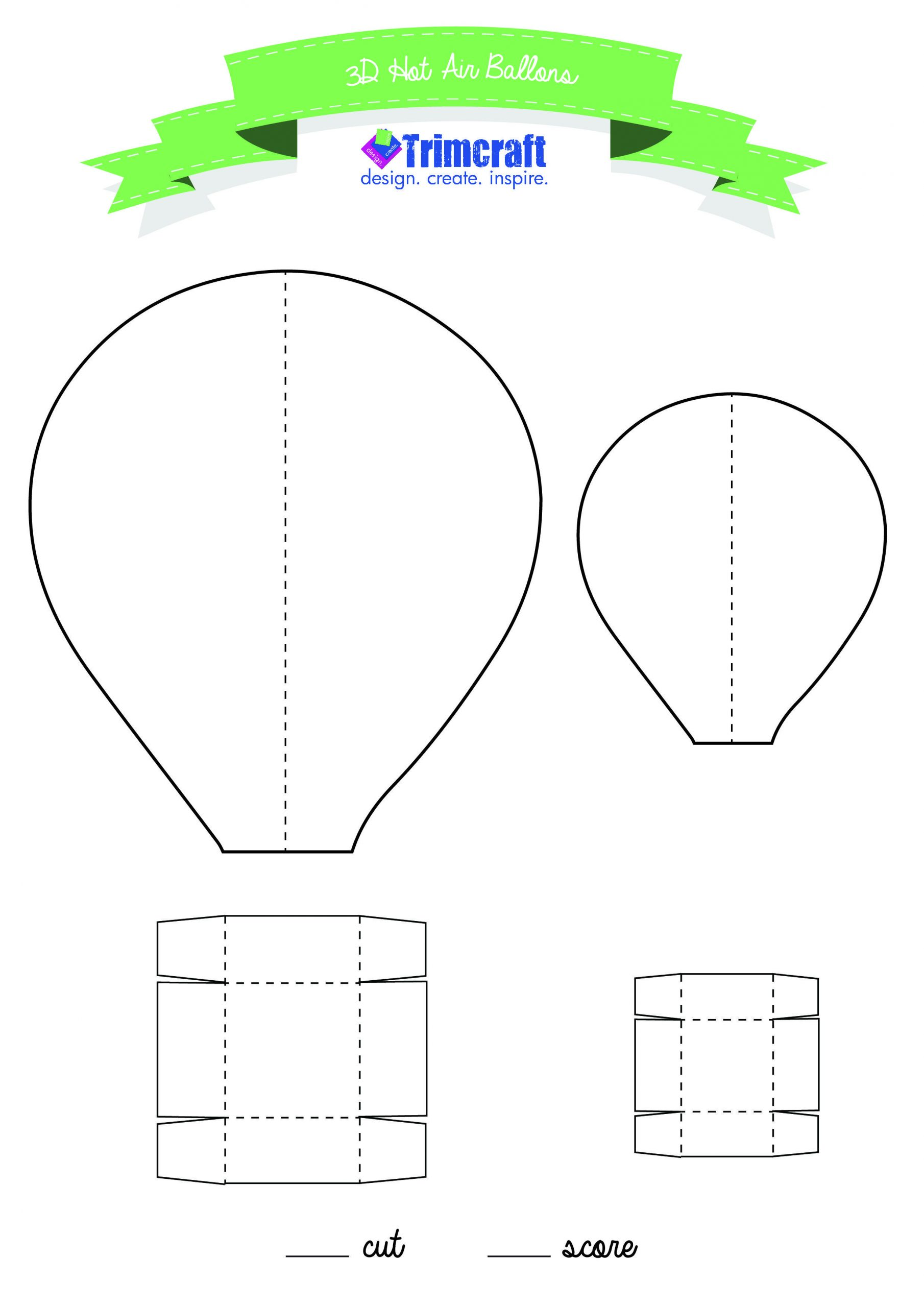 Balloon Cut Out Template