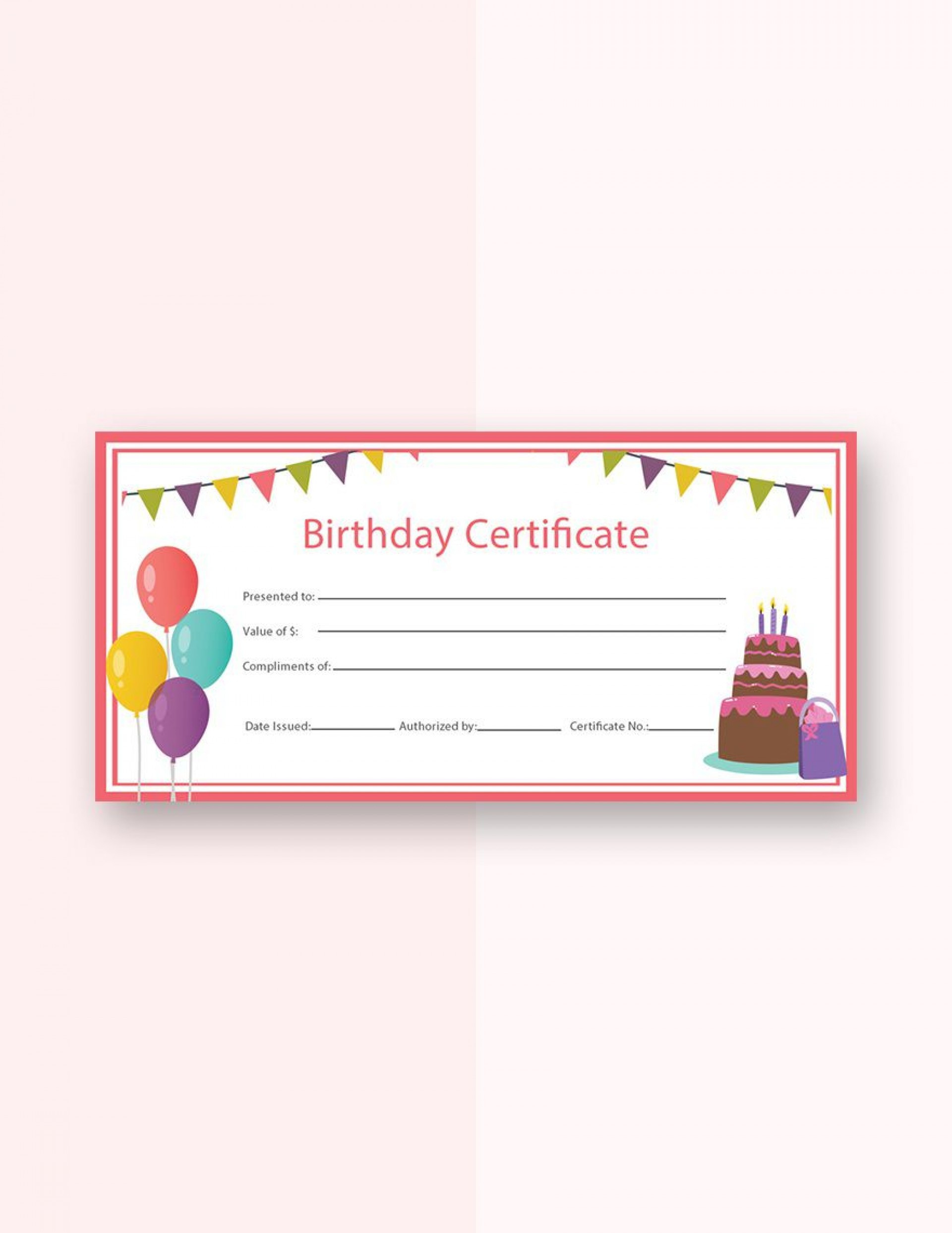 Free Gift Certificate Template Addictionary