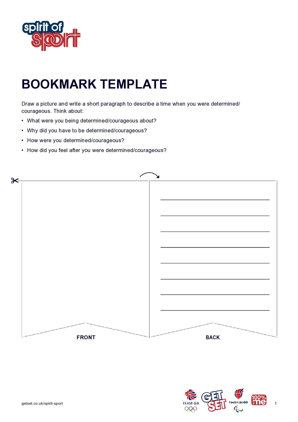 Blank Bookmark Template Word