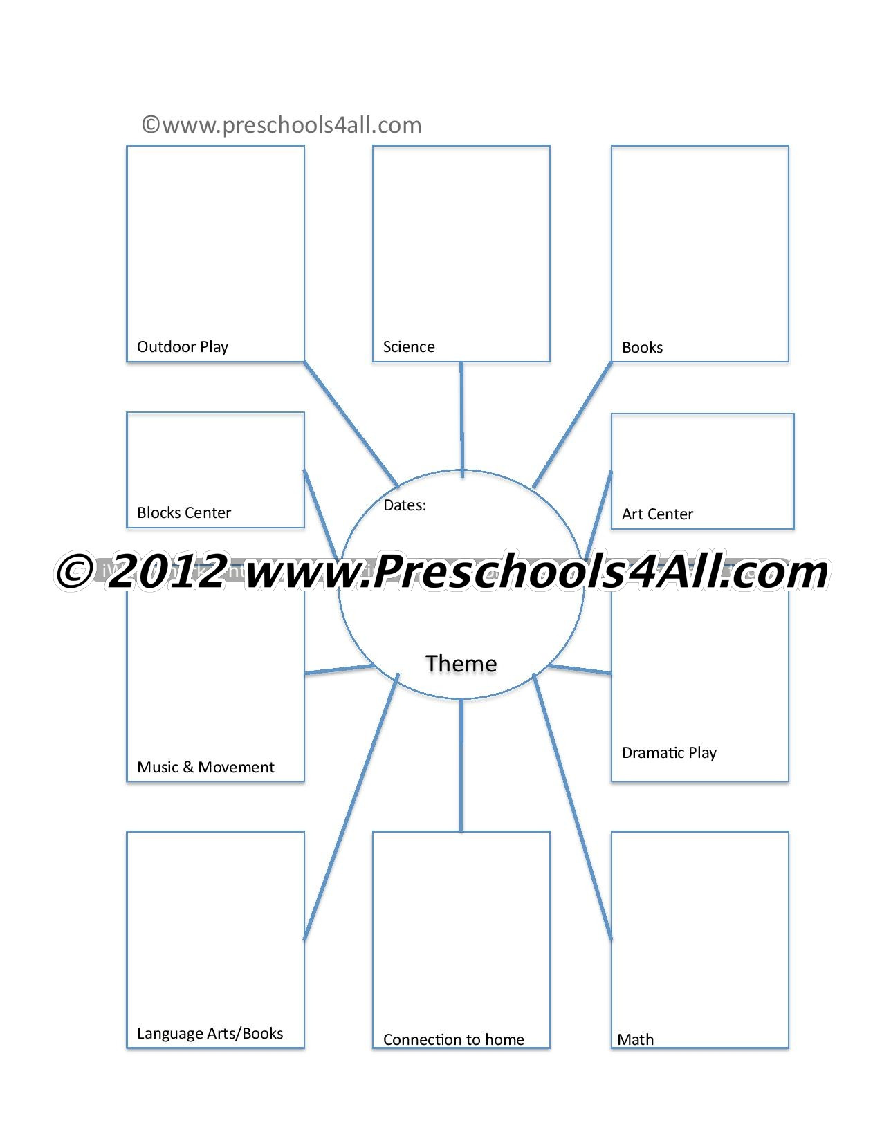 Blank Curriculum Map Template