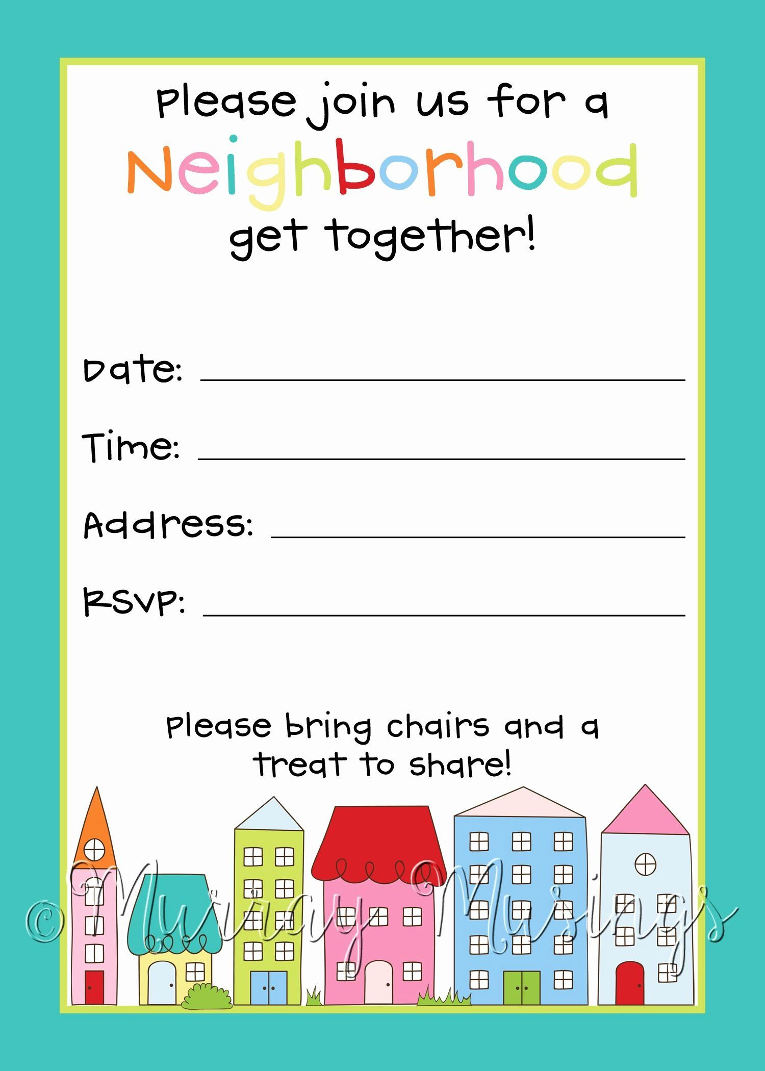 35 Block Party Invitation Template Free in 2020