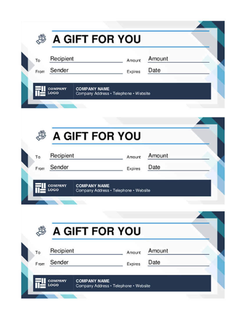 20 Best Free Business Gift Certificate Templates MS Word