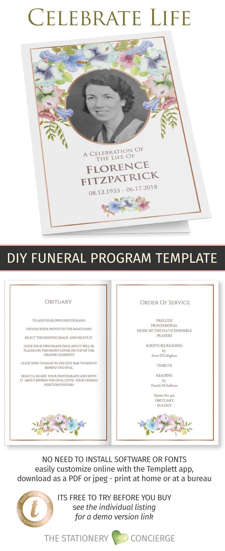 Celebration Of Life Template