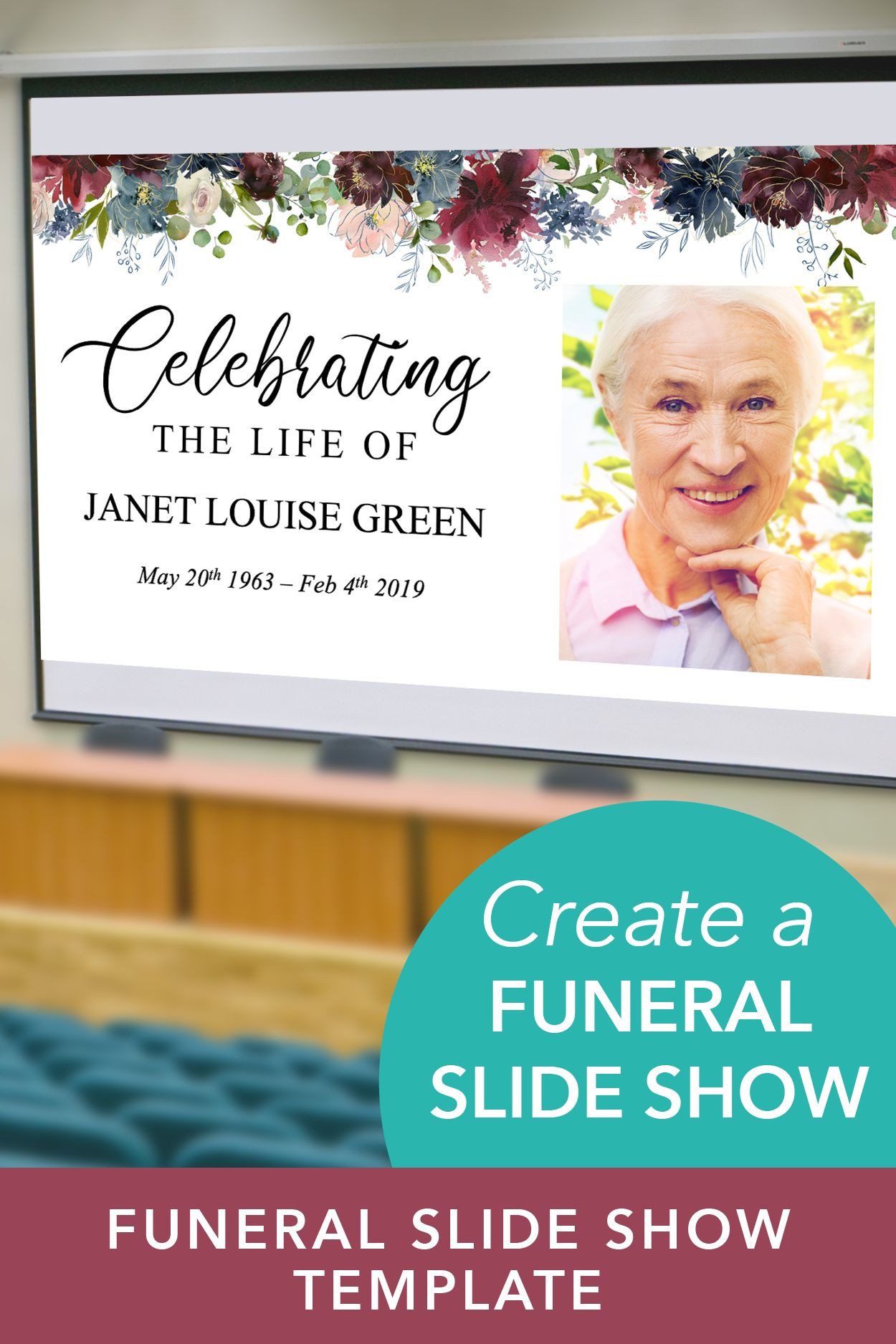 Celebration of Life PowerPoint Template Funeral Slideshow