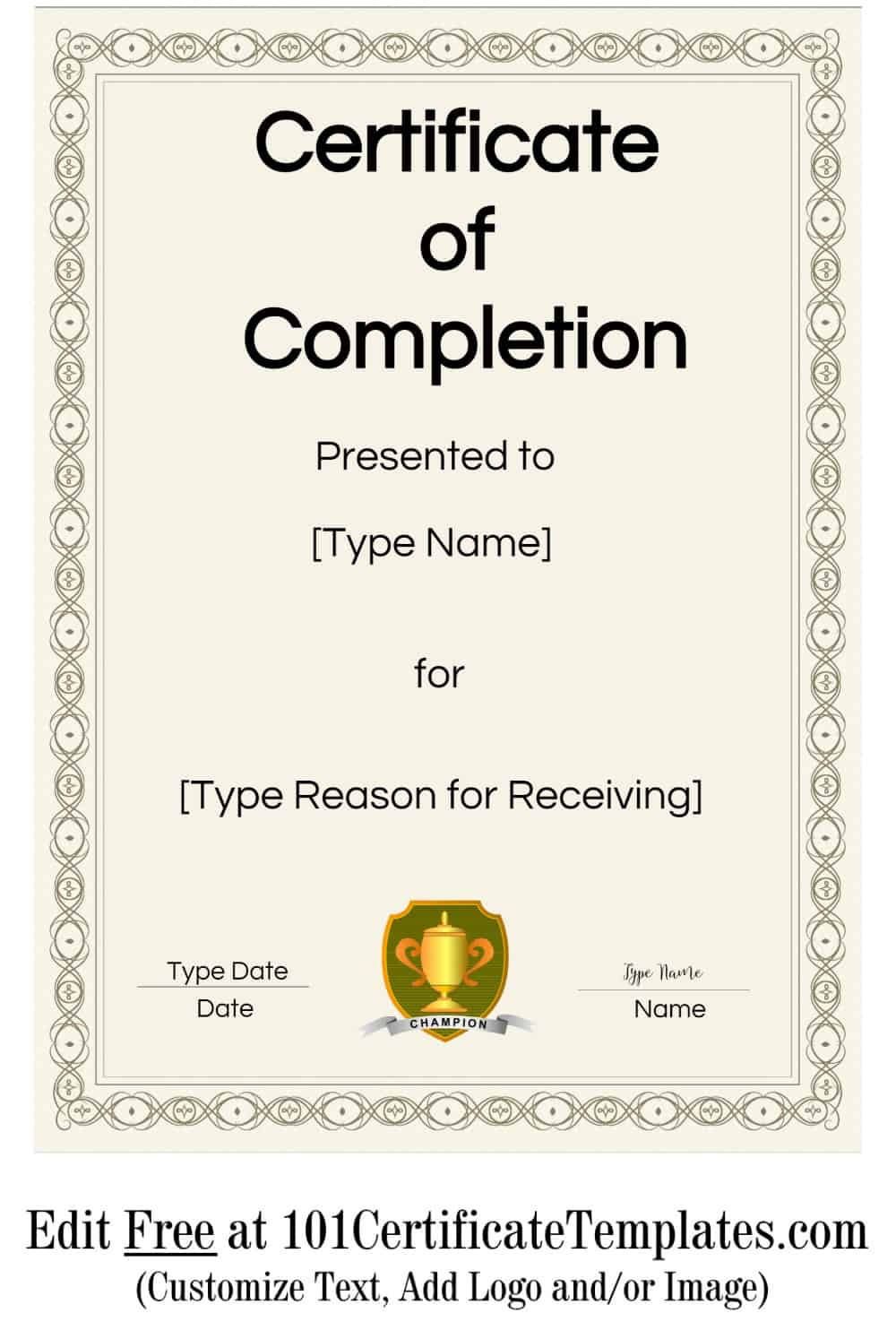Certificate Of Baptism Template