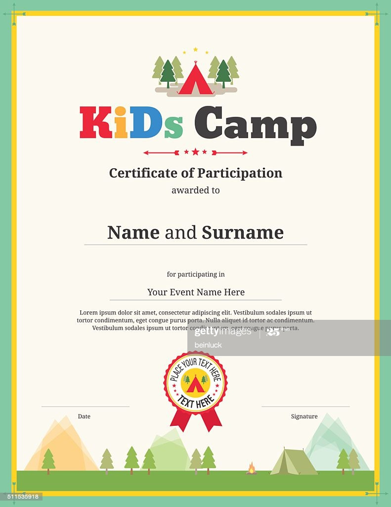 Certificate Of Participation Template