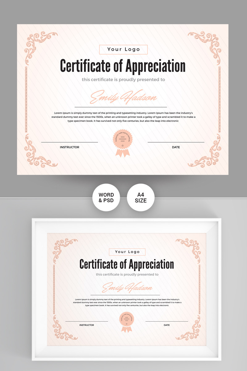 Certificate Of Recognition Template