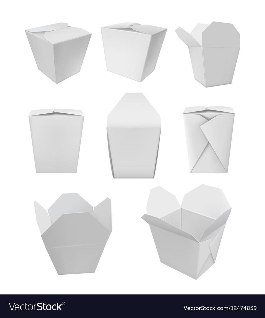 Chinese Takeout Box Template