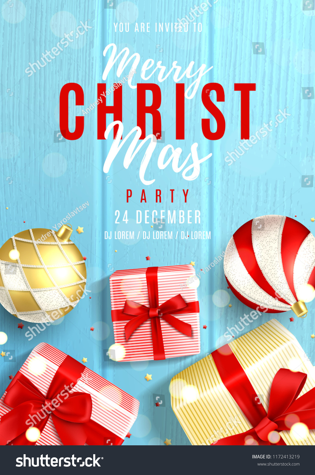 Christmas Party Invite Template