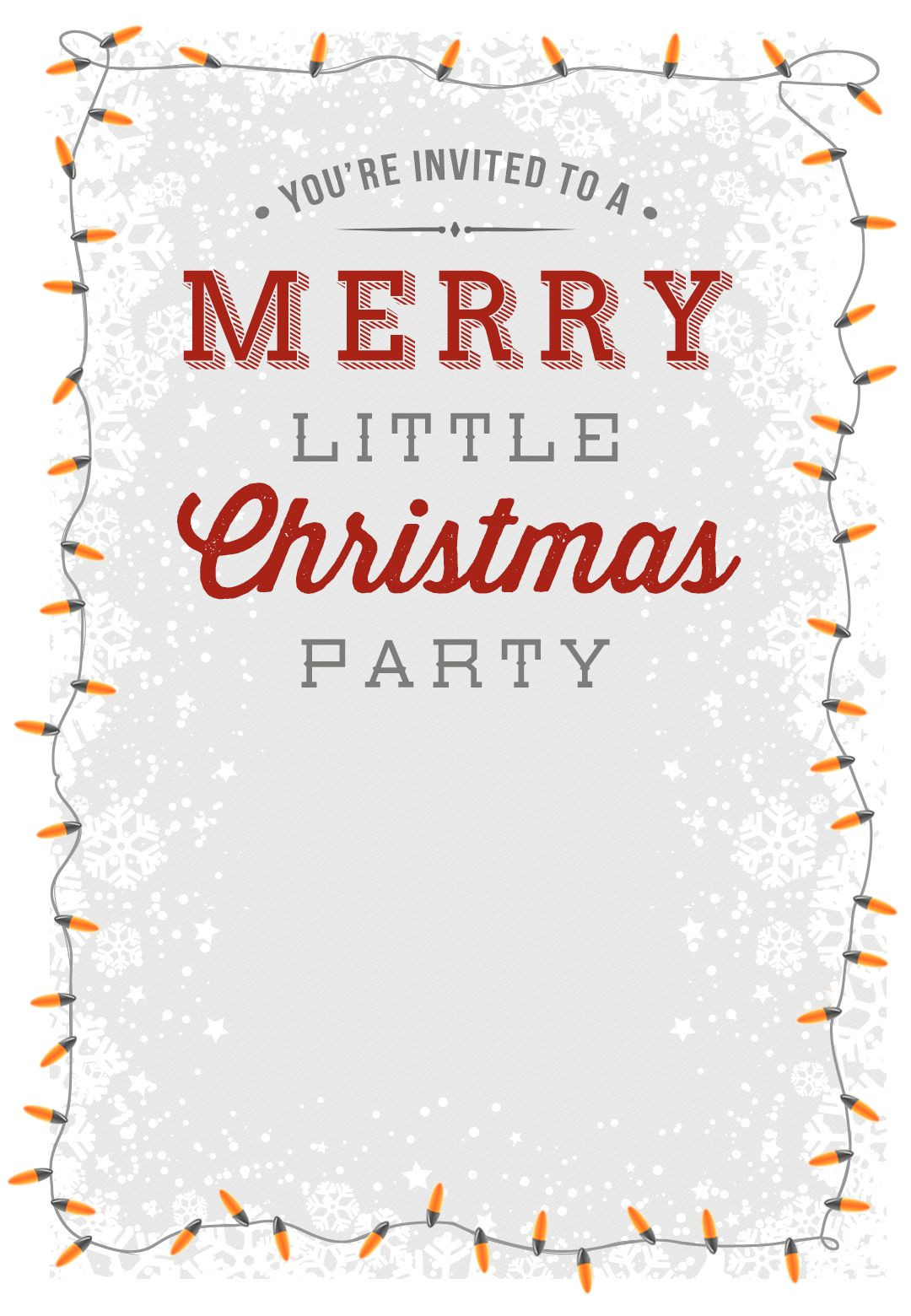 A Merry Little Party Free Printable Christmas Invi