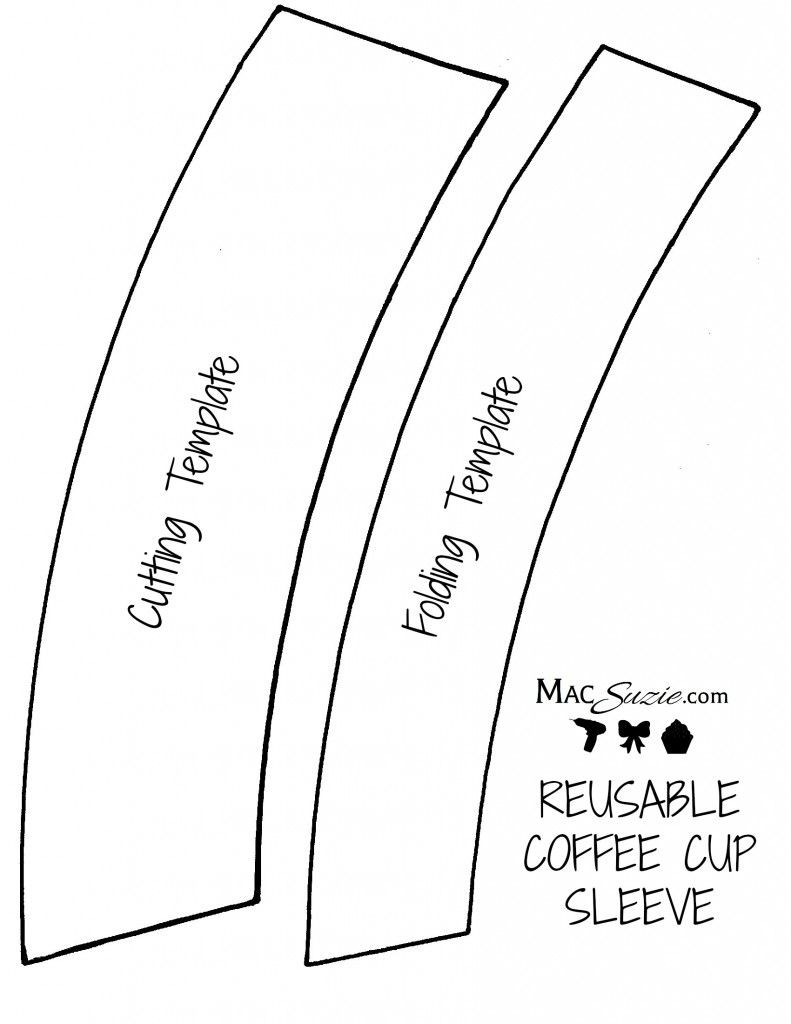 DIY Reusable Coffee Cup Sleeve Free Printable Template