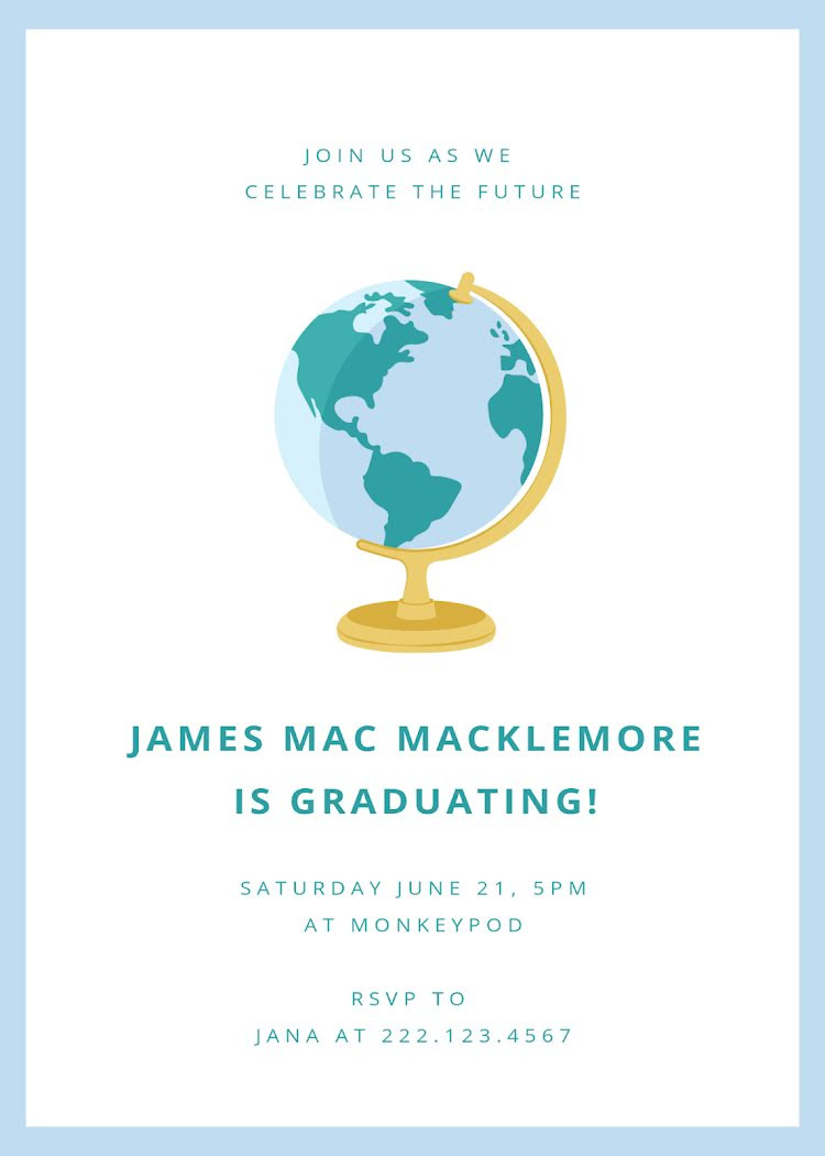 College Graduation Announcements Template