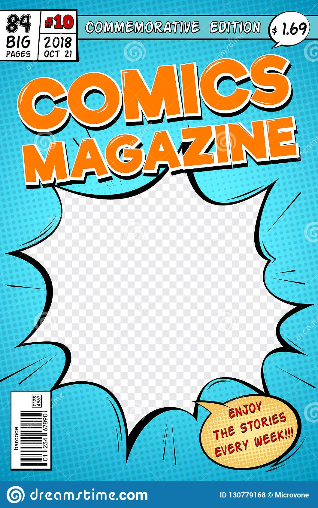 Comic Book Cover Template