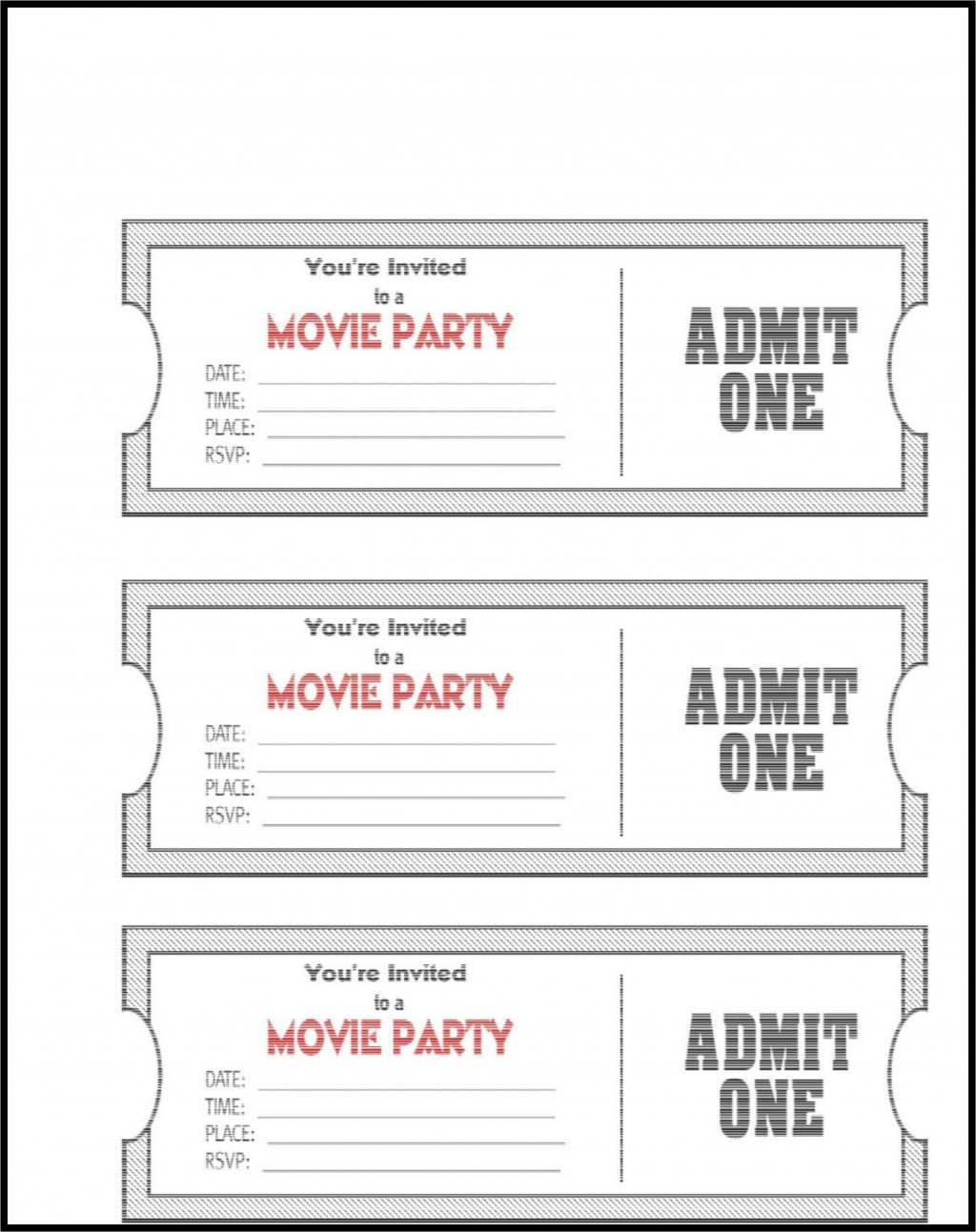 Concert Ticket Template Free