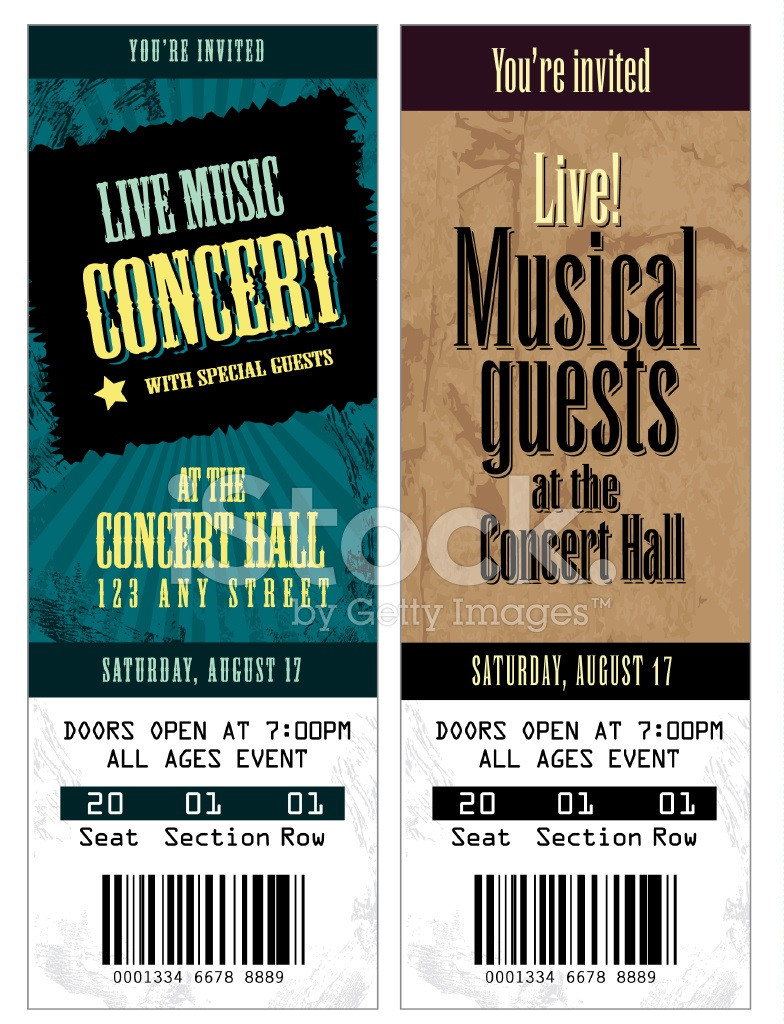 Concert Ticket Template Free Addictionary