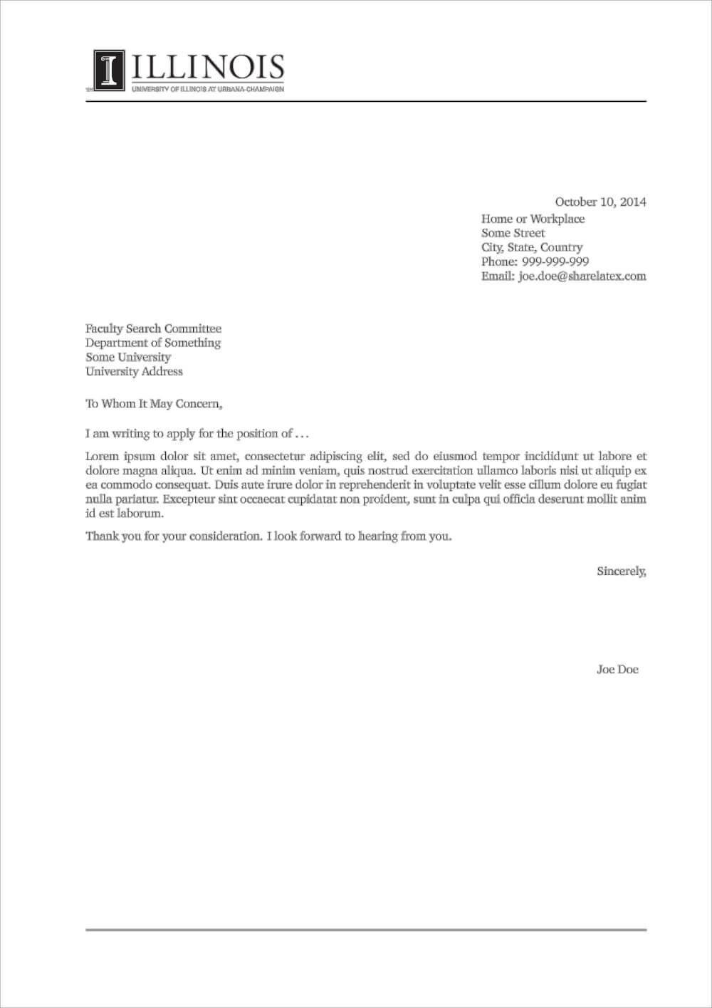 5 LaTeX Cover Letter Templates for Any Job