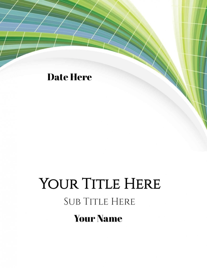 Cover Page Template Word