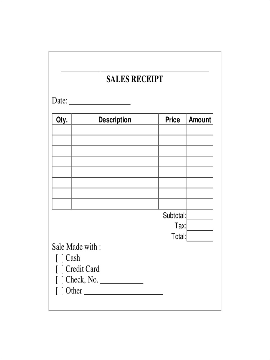 Credit Card Receipt Template