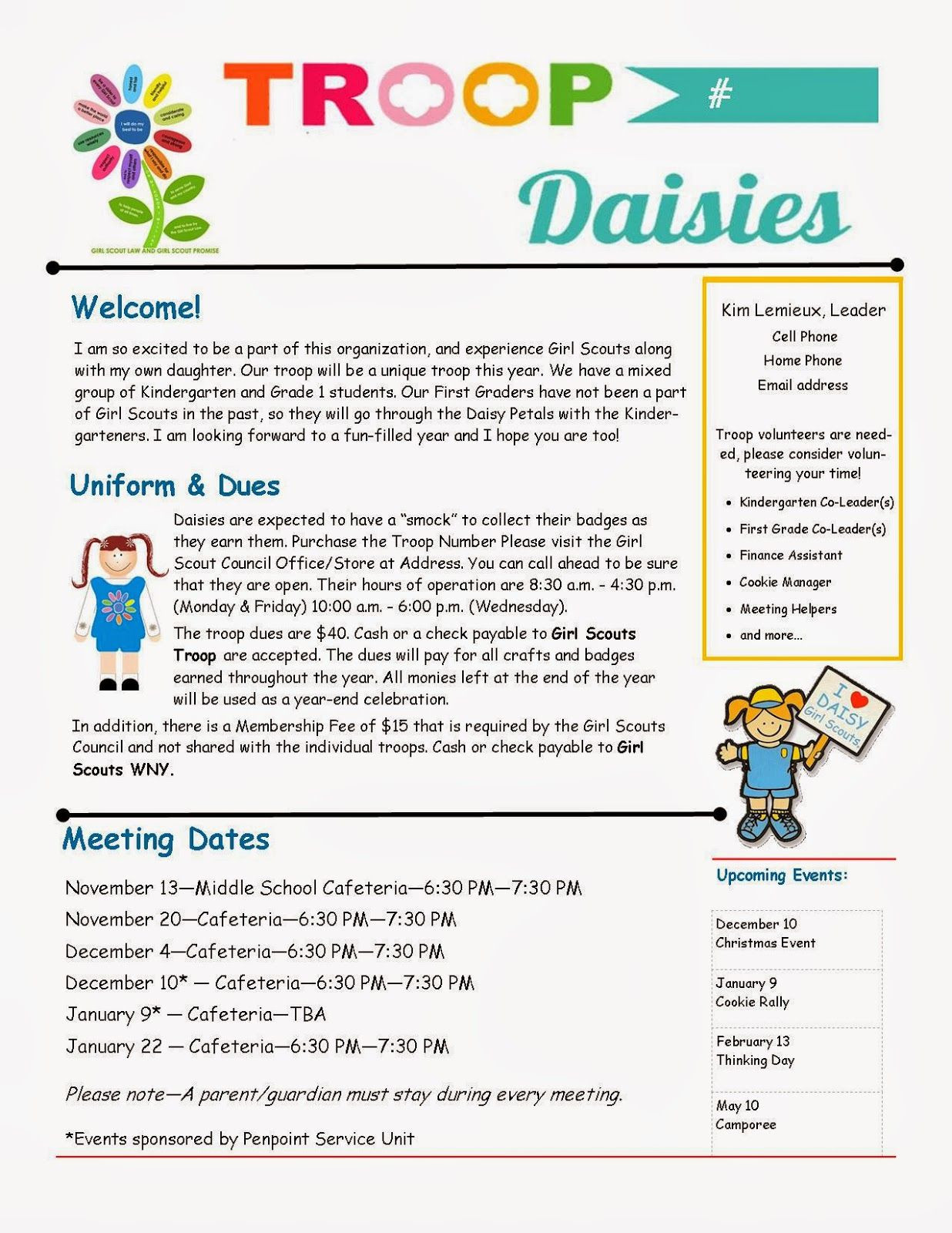 Cub Scout Newsletter Template