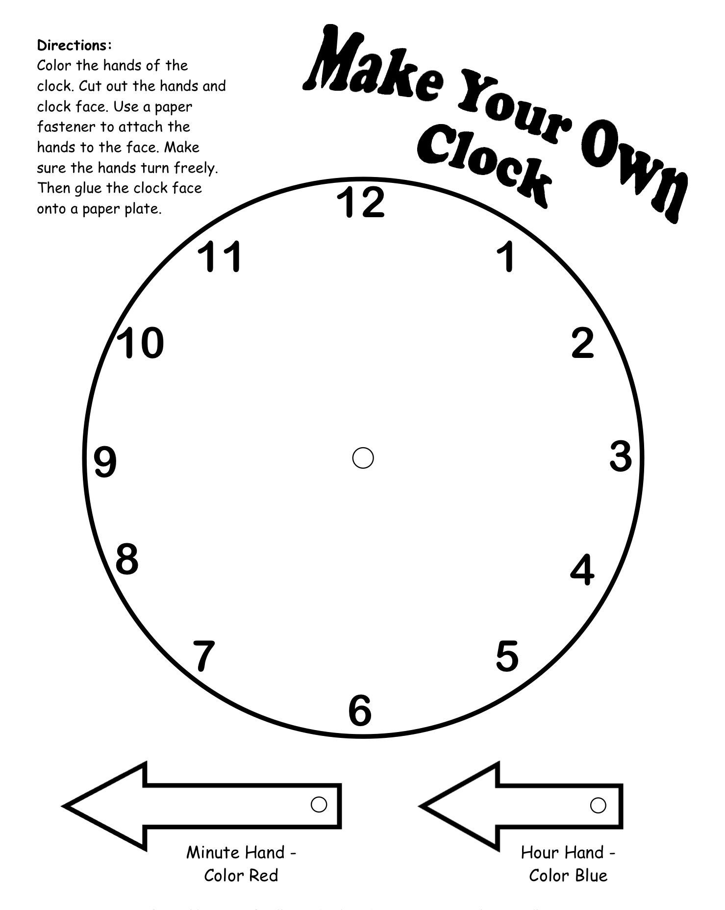 Make your own clock printable
