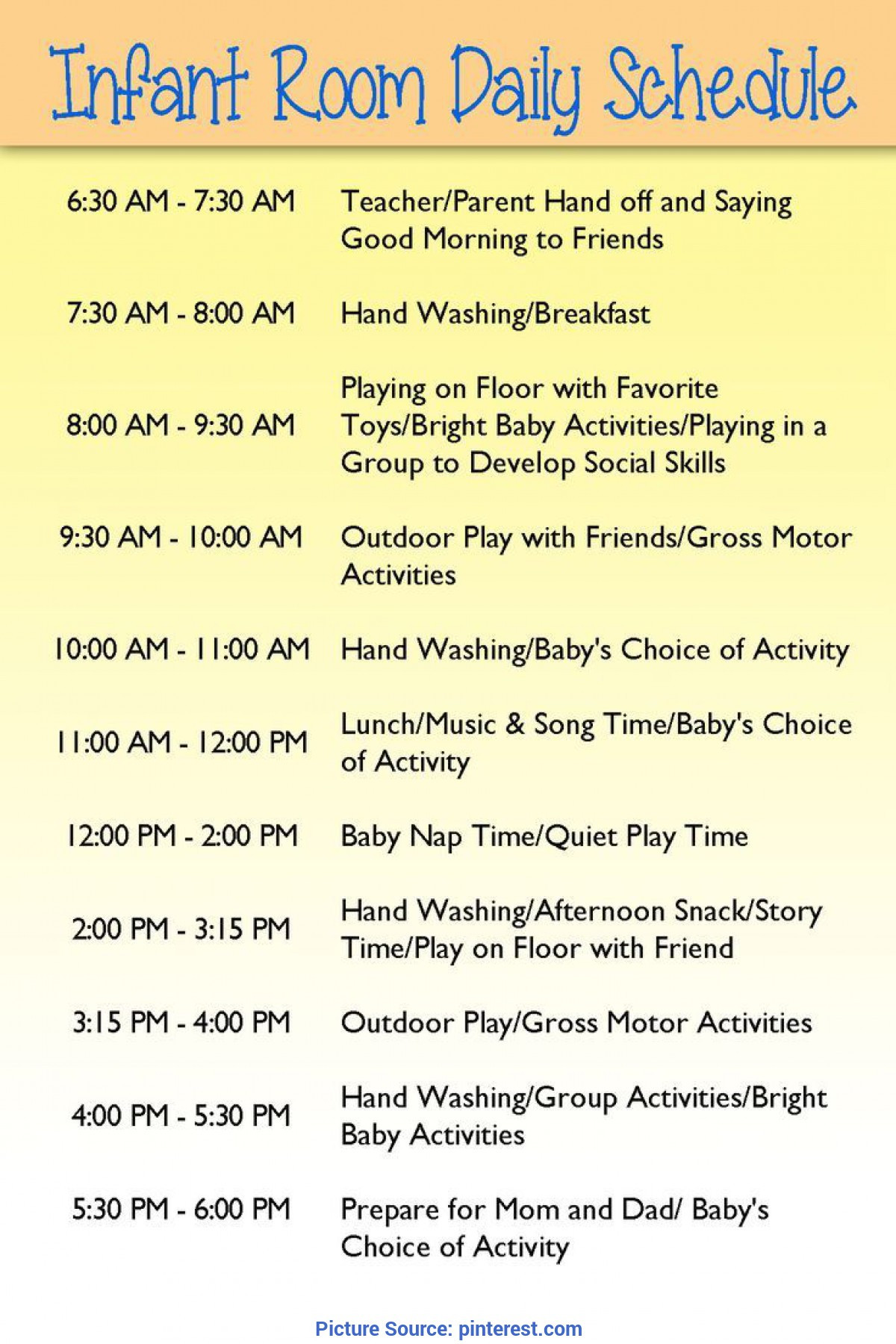 Daycare Lesson Plan Template