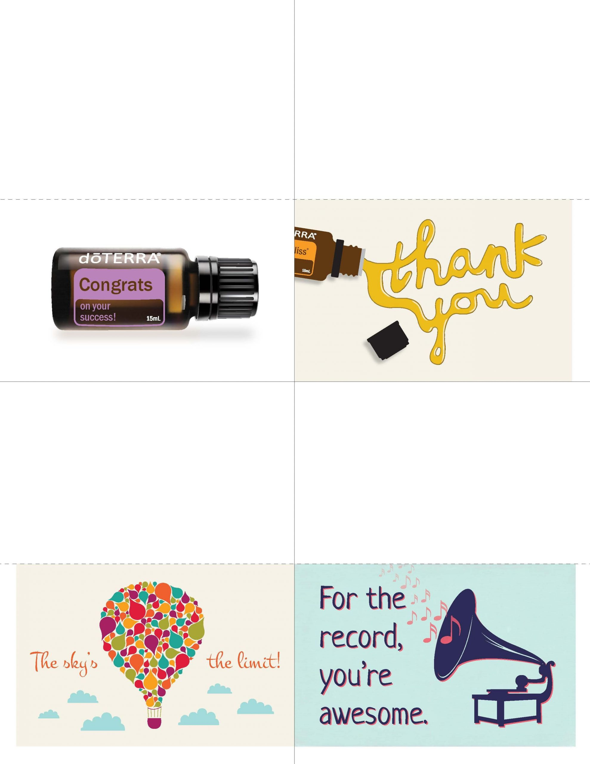 Downline Appreciation Day Thank You Cards