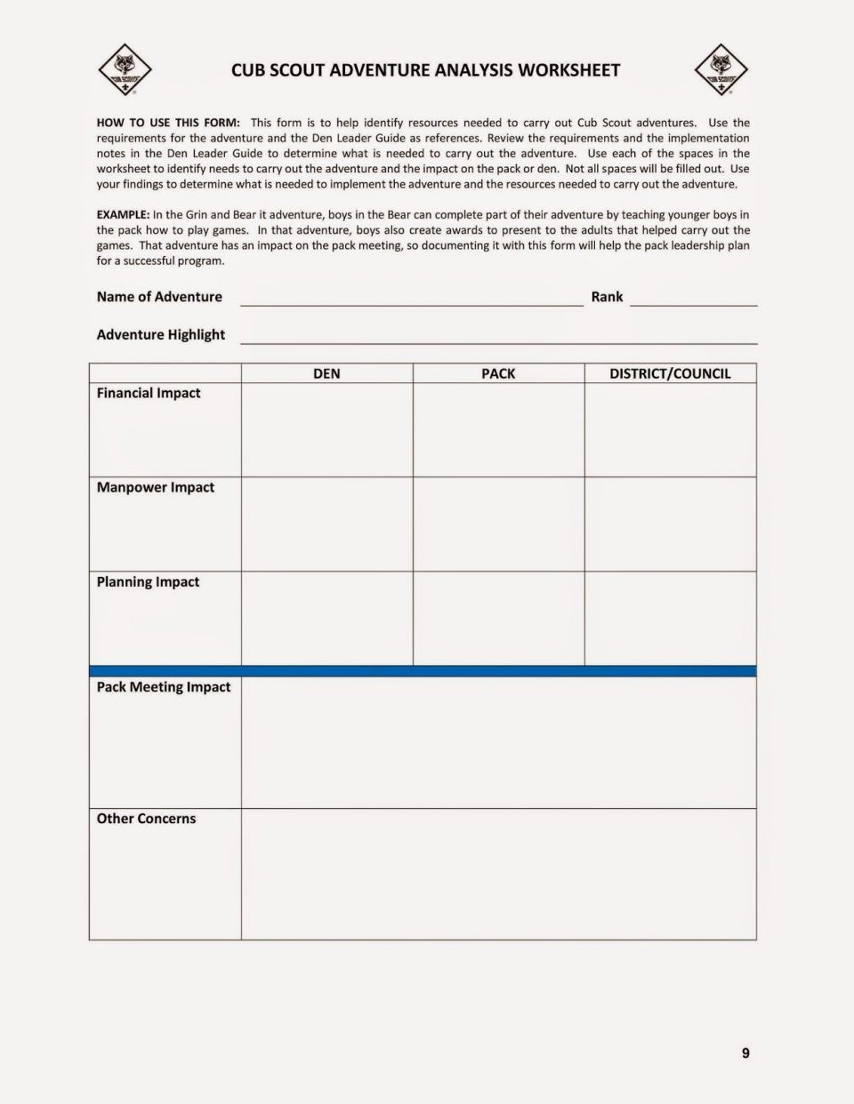 Eagle Scout Program Template