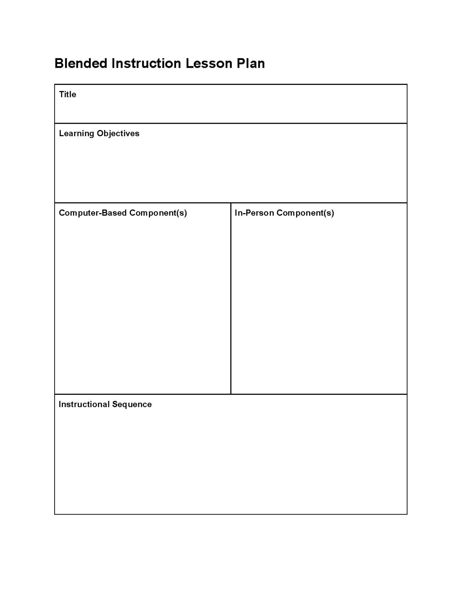 This editable lesson plan template can be used to create