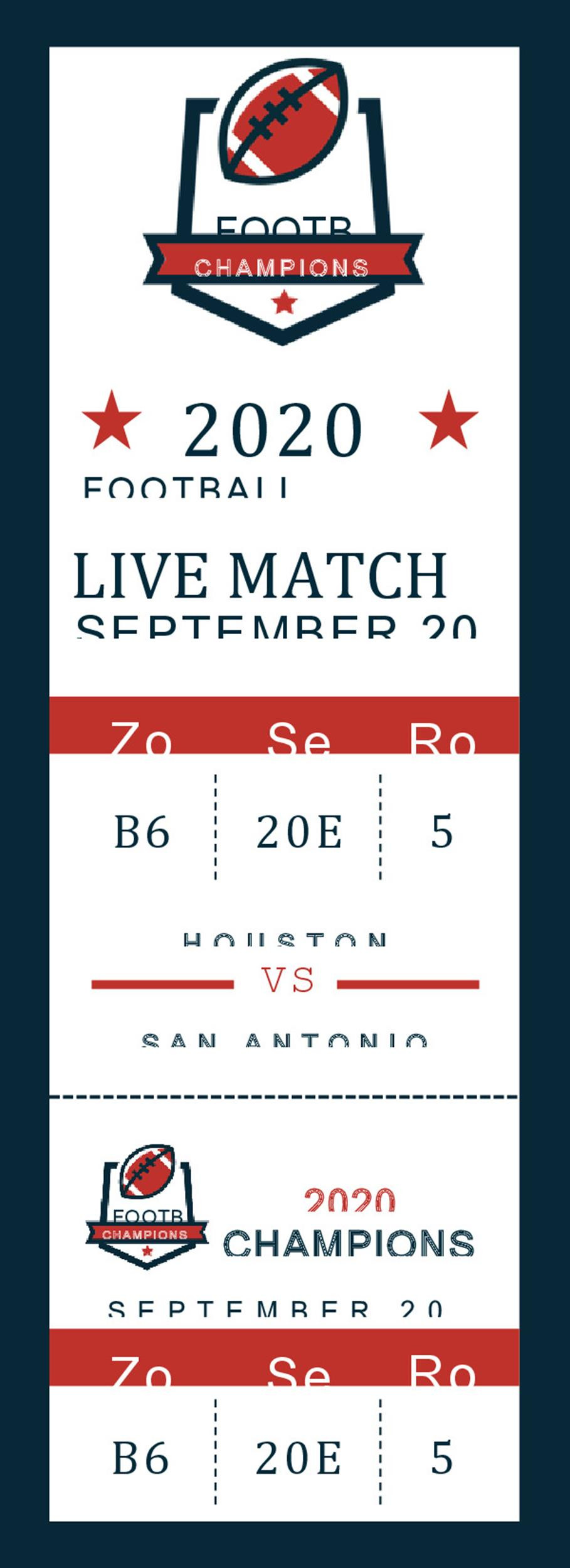 Editable Ticket Template Free