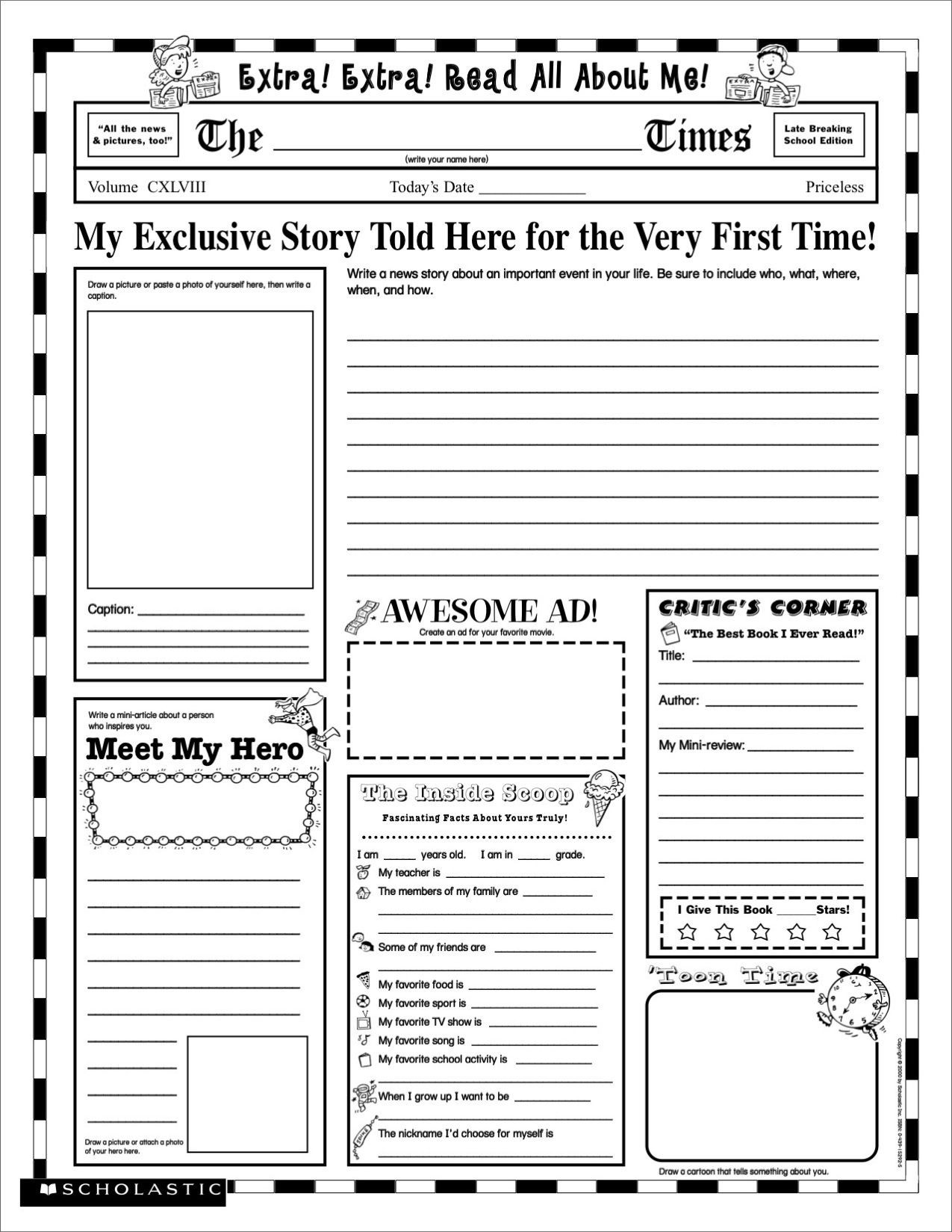 Facebook Template for Students