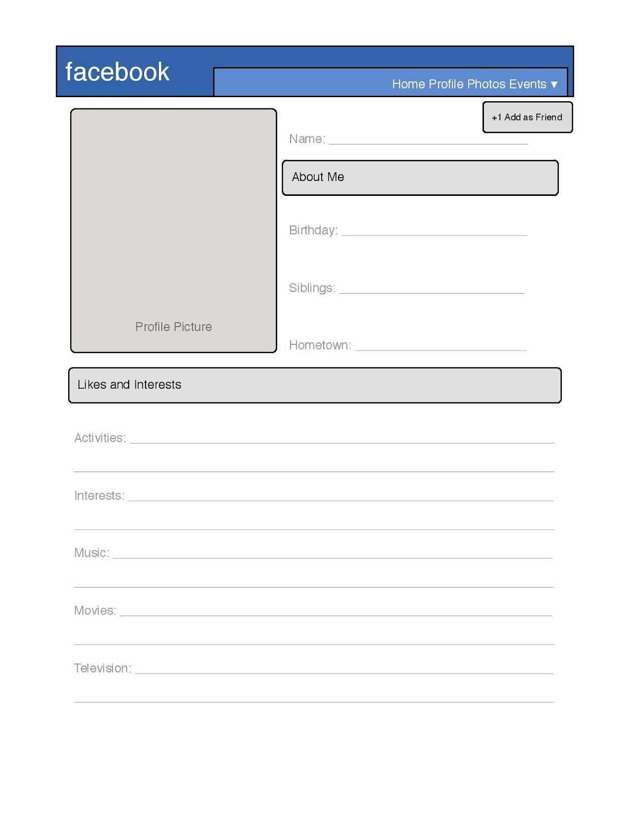 Simple Profile Template Great for introduction