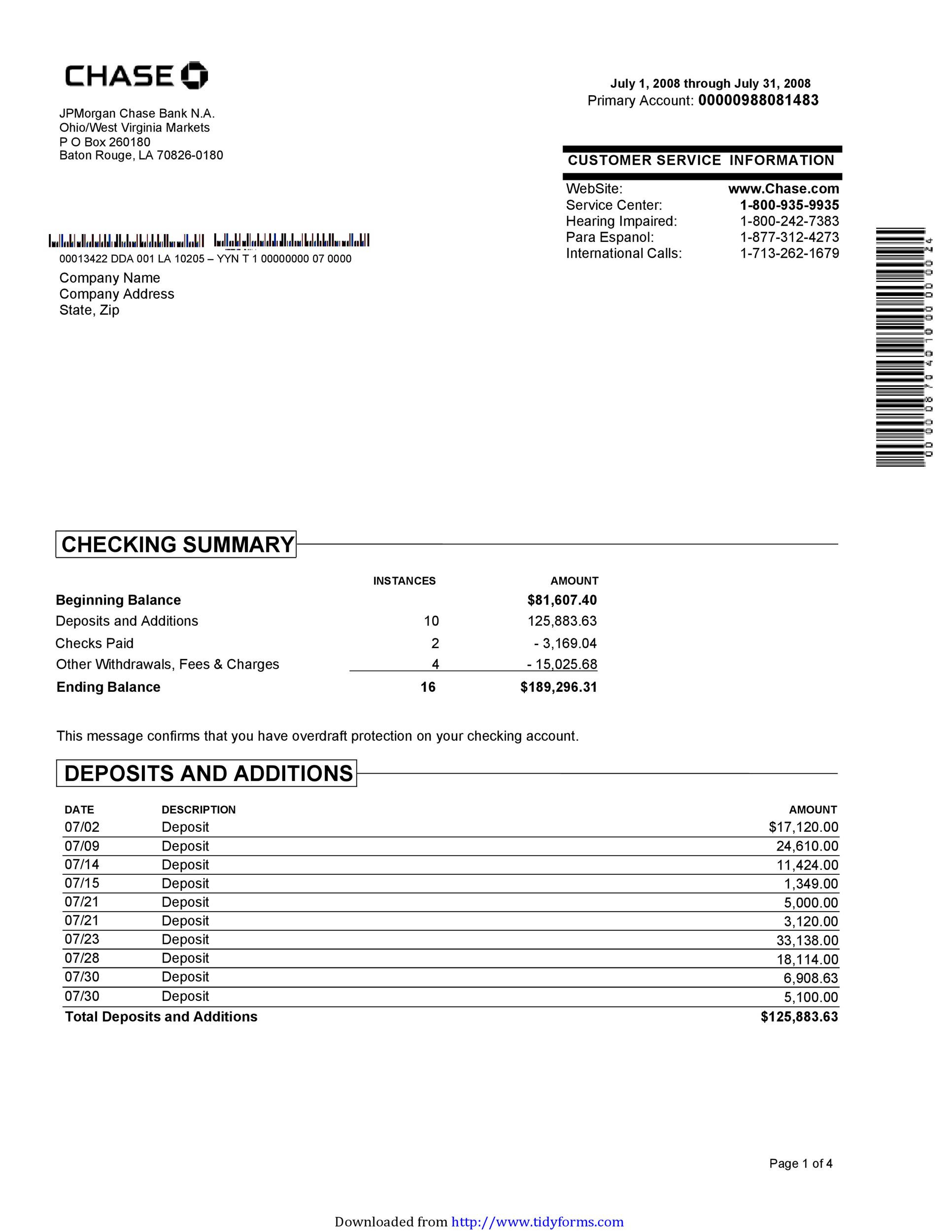 23 Editable Bank Statement Templates [FREE] TemplateLab