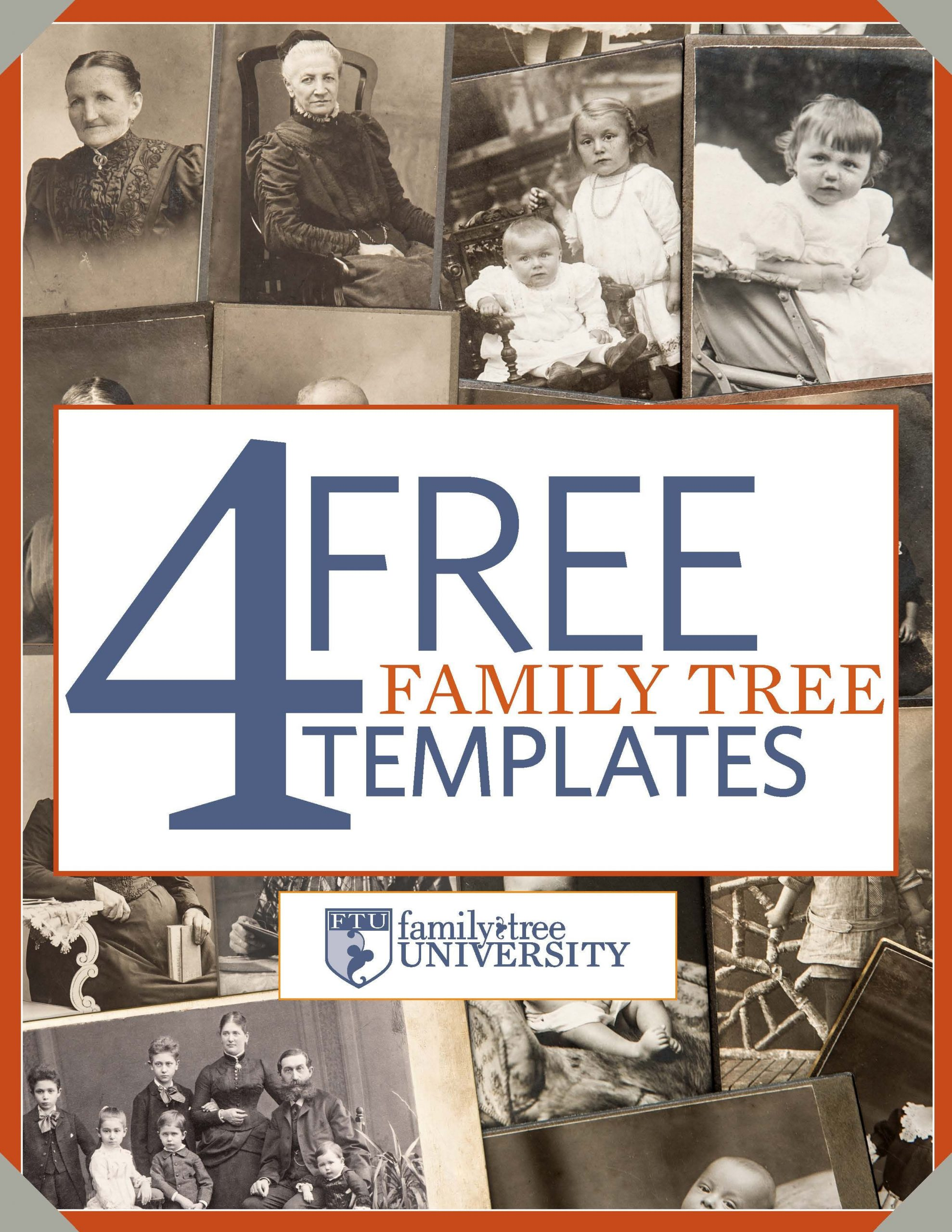 "Download our free genealogy e book ""4 Free Family Tree"