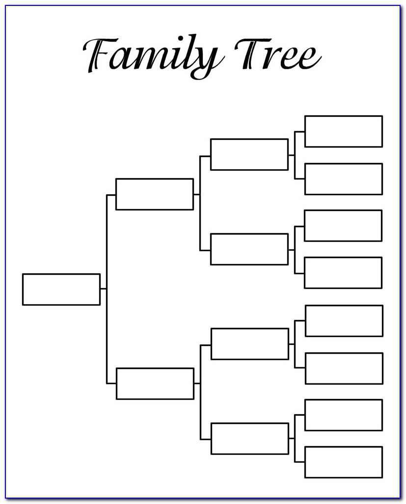 Family Tree Template Word