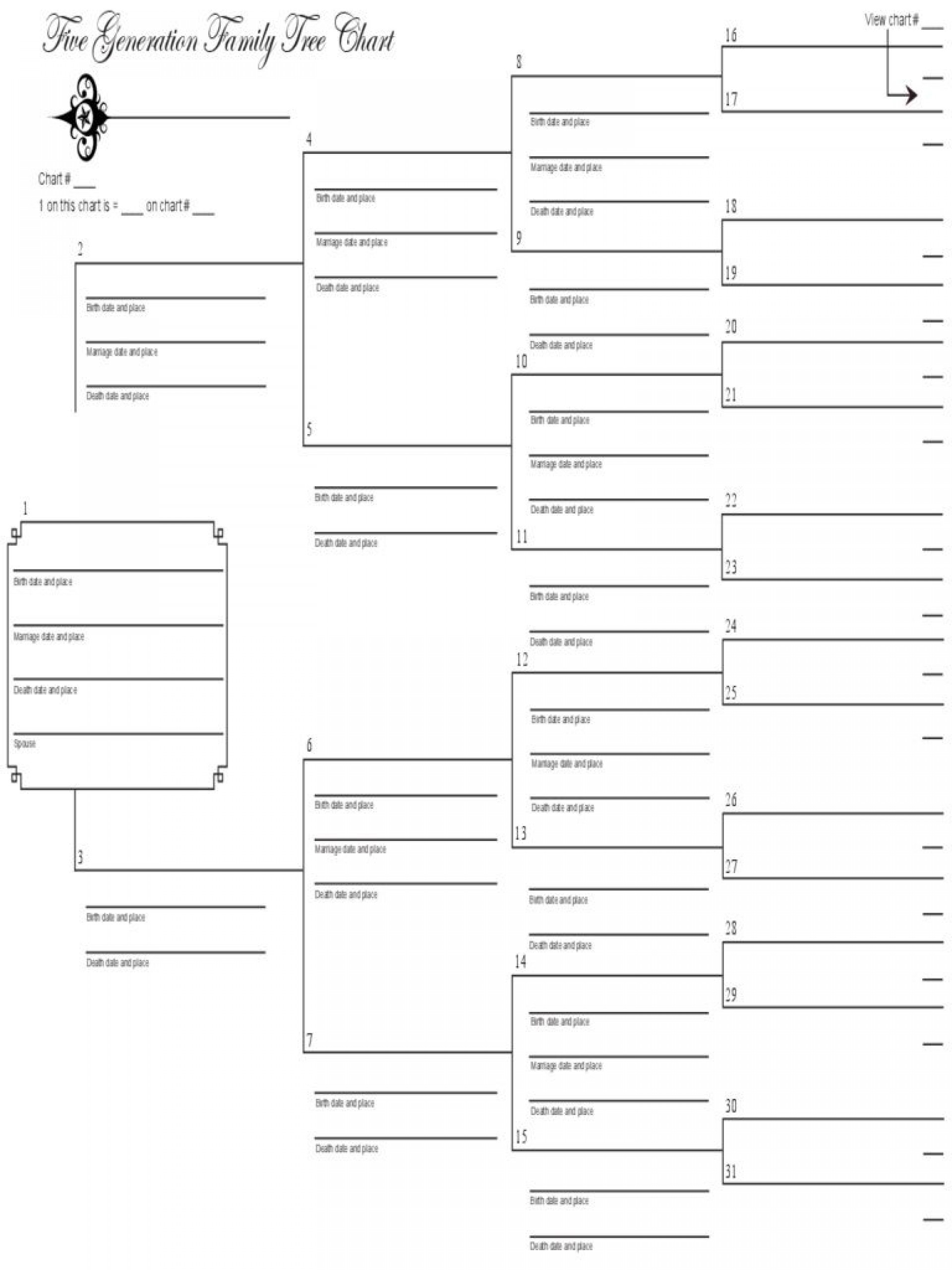 Fillable Family Tree Template