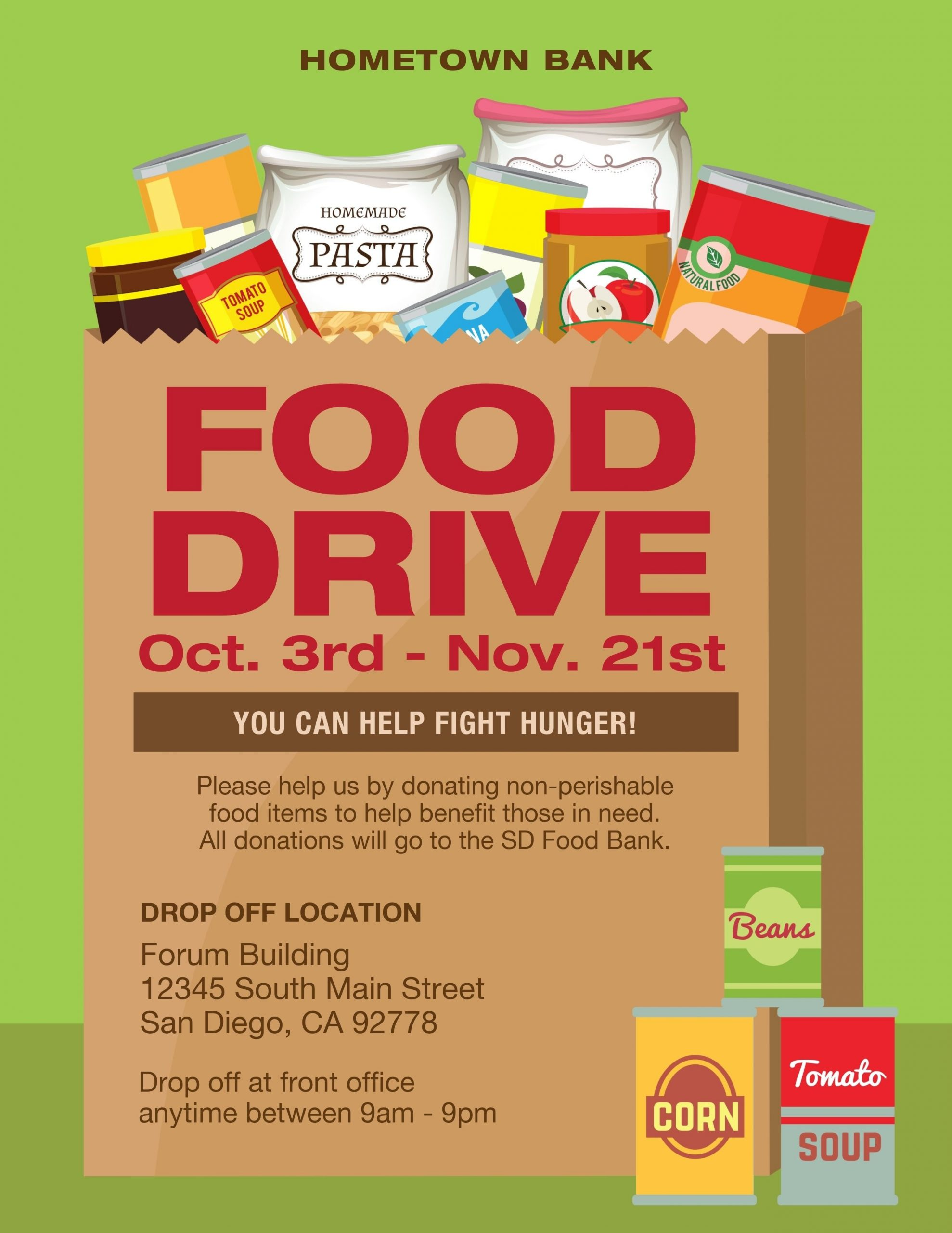 Food Drive Flyer Template Canned Food Drive Flyer